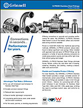 G-PRESS Stainless Steel Fittings Product Overview